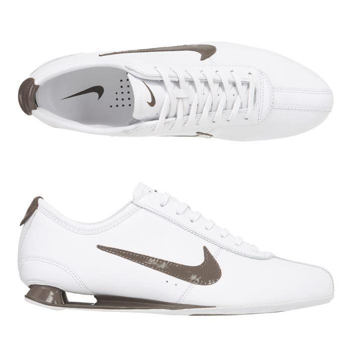 popular brand nice shoes cheap sale NIKE Baskets cuir Shox Rivalry Homme Blanc - Achat / Vente basket ...