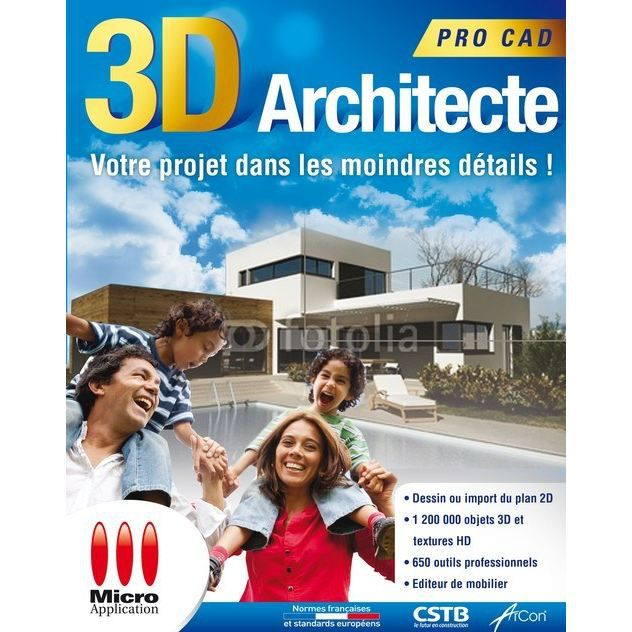 Micro application 3d architecte pro cadillac for Architecte 3d video