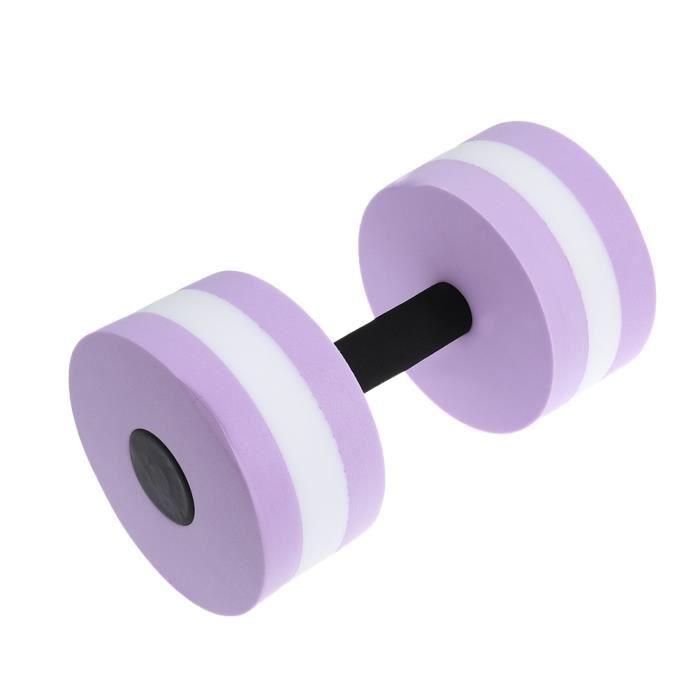 Barre de main d'haltère d'eau d'EVA d'haltère d'exercice aquatique pour l'aérobic de résistance à l'eau (violet)