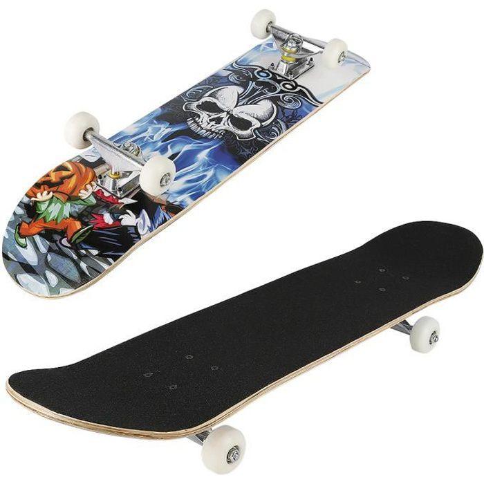 Planche à roulettes Skateboard pour Les débutants Planche de Skate pour Les Enfants Jeunes et Adultes