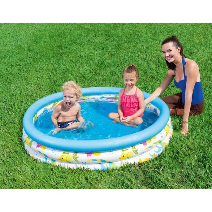 Piscine ronde gonflable enfant bébé Jardin maison Jouet baignoire gonflable bébé petit Piscine pour 1 ou 2 enfants 122*25cm