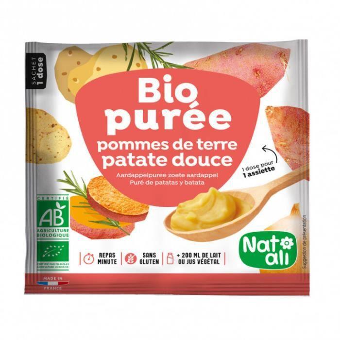 Nos courses Bio - Purée instantanée pomme de terre-patate douce 30gr