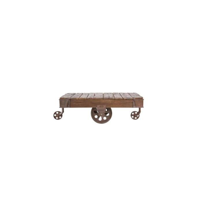 Table Basse en bois Railway 135x80 cm Kare Design