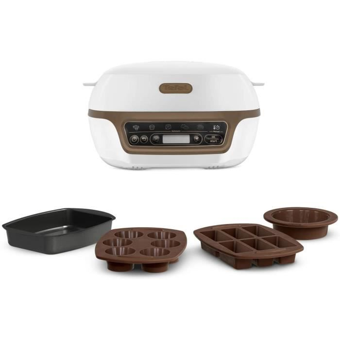 Tefal Cake Factory Machine Intelligente à Gâteaux, Appareil, Cuisson, Conviviale, Pâtisserie, Machine à pain, Muffins, 4 Moules Incl