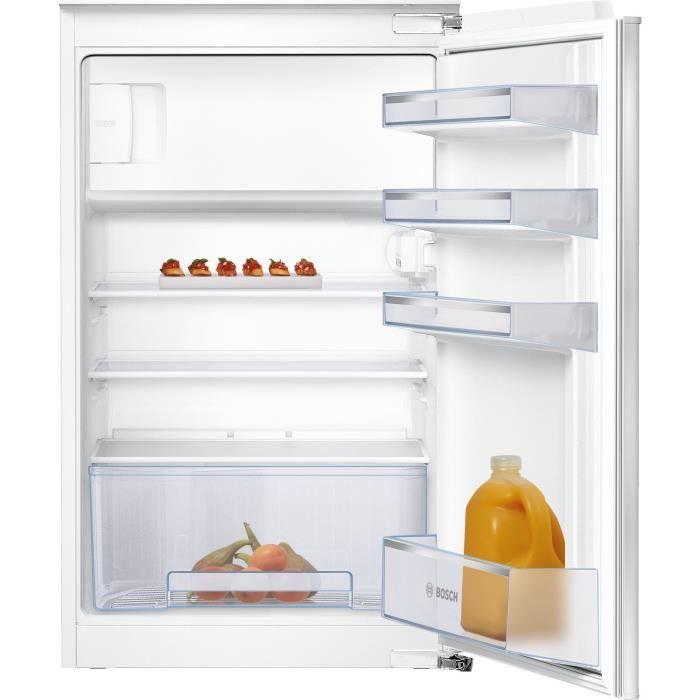 BOSCH KIL18NSF0 Réfrigérateur 1 porte intégrable - SER2 - Classe énergie A++ - 88x56cm - Blanc