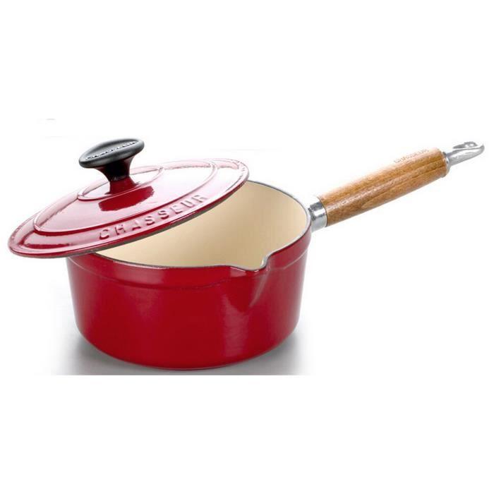 Chasseur - casserole en fonte émaillée 16cm rouge avec couvercle - 3481rouge