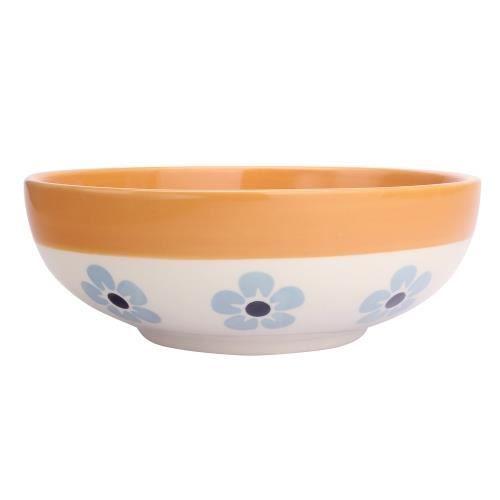 Bol céréales flore 16,5 cm bleu et orange - Déjeuner Sur L'herbe Orange