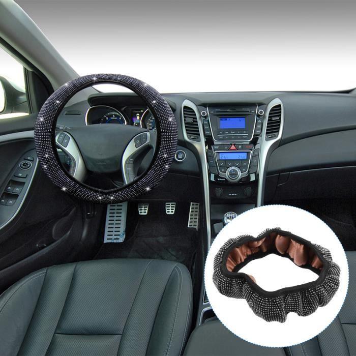 1 couvercle de volant durable créatif de PC pour véhicule automobile couvre-volant confort conducteur passager