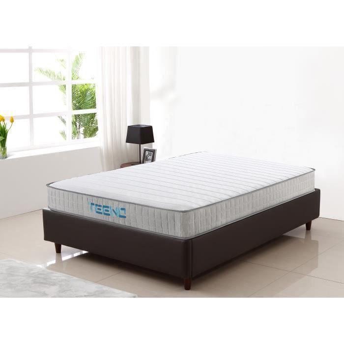 Matelas 140x190 cm mousse à mémoire Épaisseur 20 cm Gel IZTOSS® mousse HR 7 zones de confort Équilibré