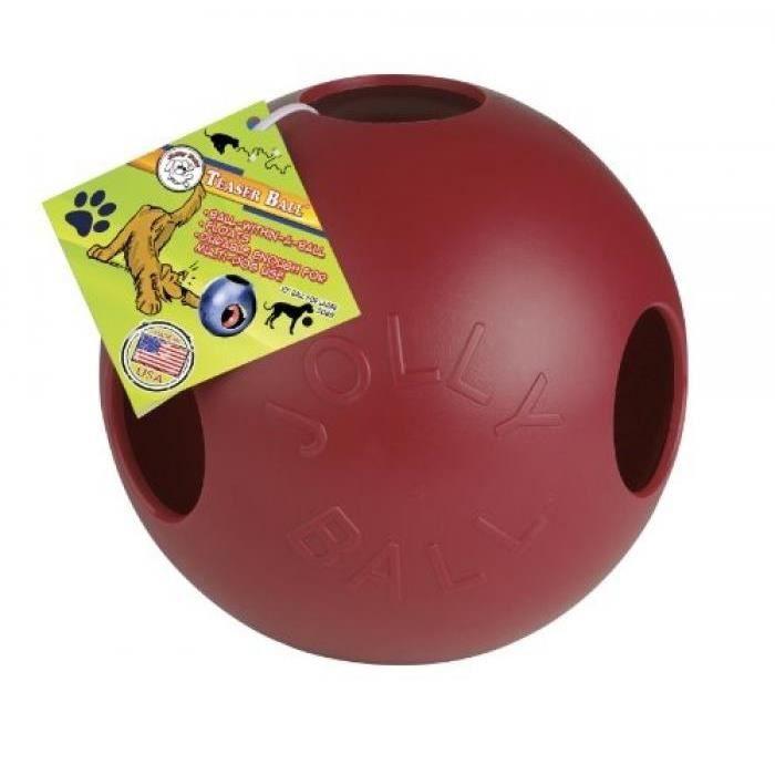 JOLLY PETS TEASER BALL JOUET POUR CHIEN ROUGE 25 CM