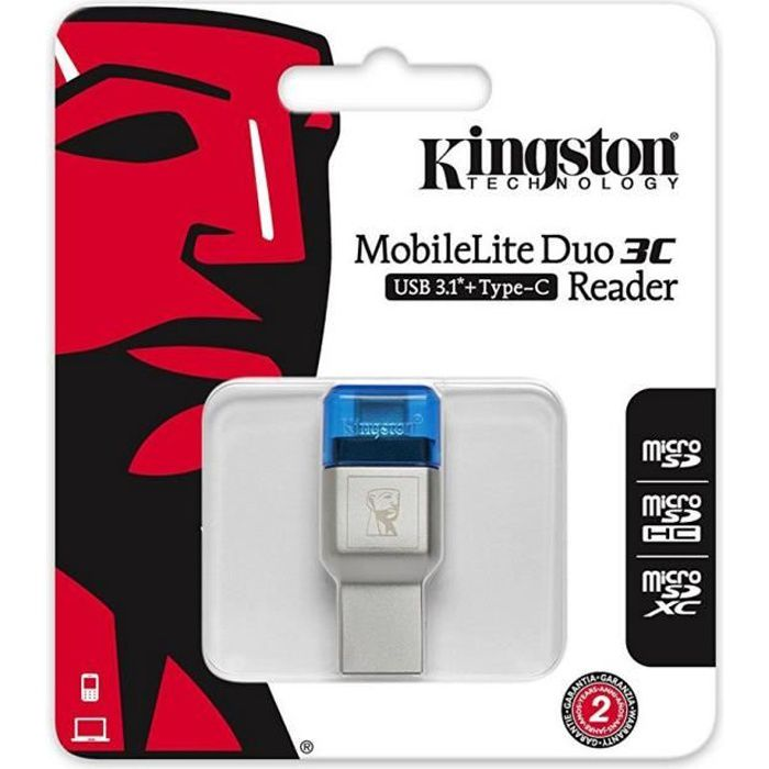 KINGSTON Lecteur de cartes microSD MobileLite DUO 3C