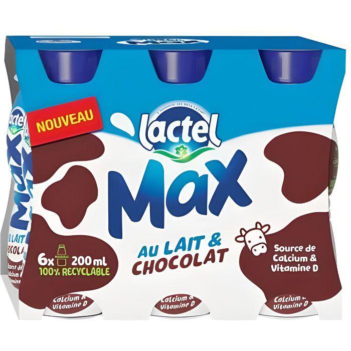 Lactel Max au Lait et Chocolat 20cl (pack de 6)