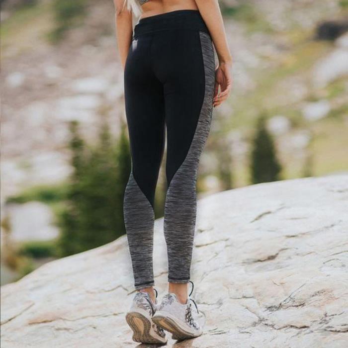 beguinstore® Noir Femmes Yoga Leggings sports de course Pantalons d'entraînement Pantalon Fitness Gym_love4274