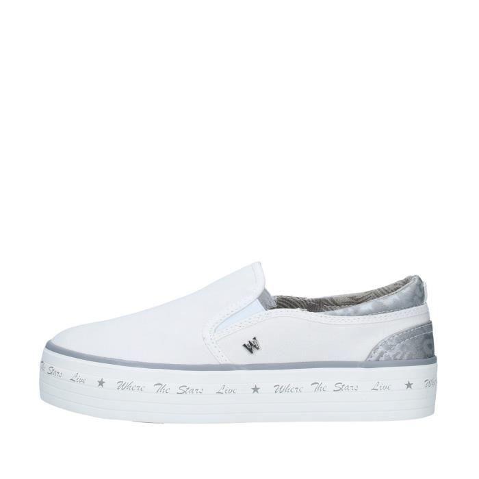 Wrangler WL01646A chaussures de tennis Glisser sur Femme BLANC