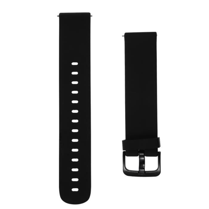 1 Pc Silicone 20mm Classique Noir Bande De Montre À Dégagement Rapide Pour Adultes Femmes BRACELET DE MONTRE VENDU SEUL
