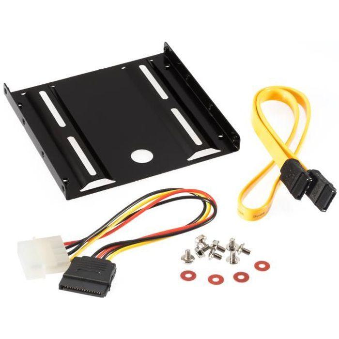 Poppstar - Kit de montage pour HDD SSD interne cadre et les vis de montage pour 6,4 cm (2,5 pouces), incl. câbles SATA 3