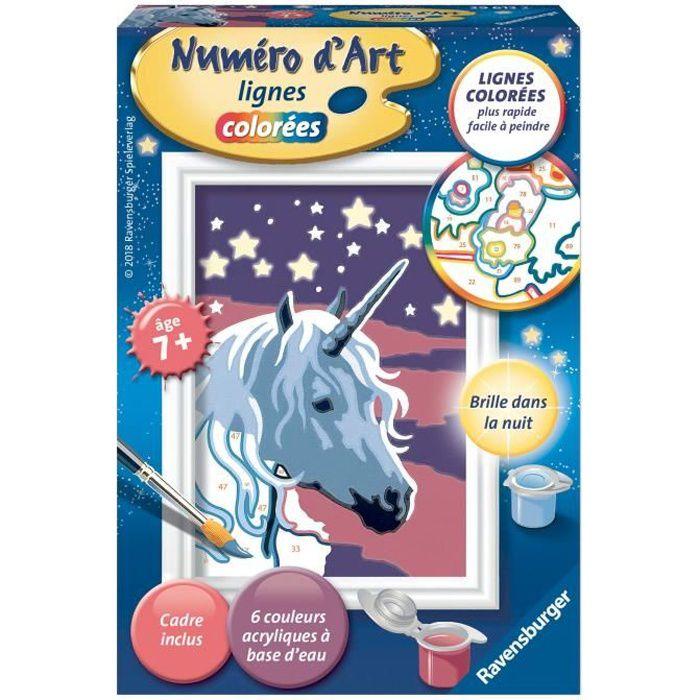 Numéro d'art - mini - Licorne scintillante