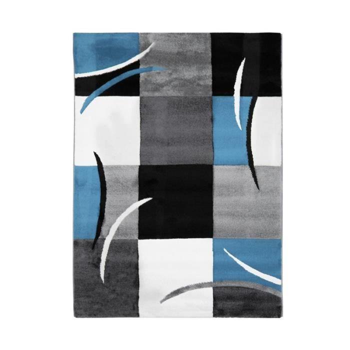 RUBY CUBES - Tapis à motifs abstraits bleu 160x230