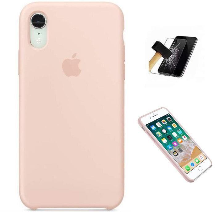 Apple Coque en Silicone pour iPhone Xr Rose des Sa