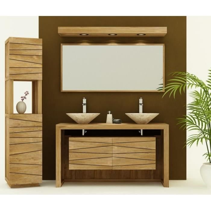 meuble de salle de bain groix sentani l120 en teck achat vente meuble vasque plan meuble. Black Bedroom Furniture Sets. Home Design Ideas