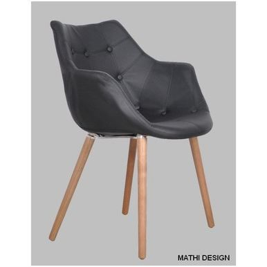 Chaise design oslo noir achat vente chaise noir for Achat chaise design