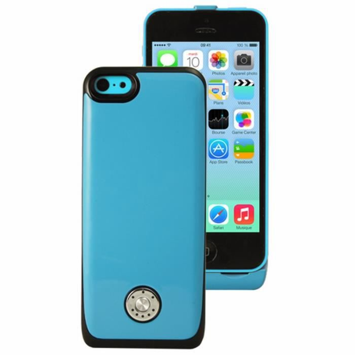 coque batterie rechargeable pour iphone 5 5s bleue achat coque bumper pas cher avis et. Black Bedroom Furniture Sets. Home Design Ideas