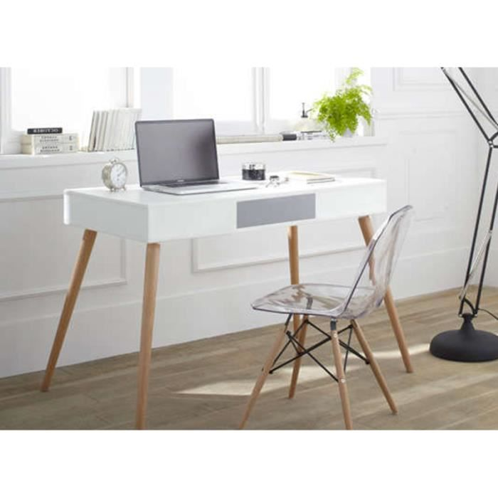 petit bureau pas cher kennedy bureau blanc achat vente. Black Bedroom Furniture Sets. Home Design Ideas
