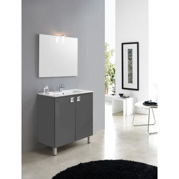 meuble de salle de bain madison taupe satin 80 cm achat vente salle de bain complete. Black Bedroom Furniture Sets. Home Design Ideas