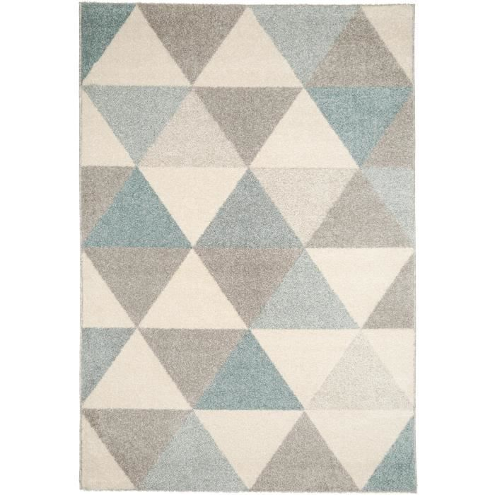 benuta tapis pastel geomet turquoise 120x170 cm achat vente tapis soldes cdiscount. Black Bedroom Furniture Sets. Home Design Ideas
