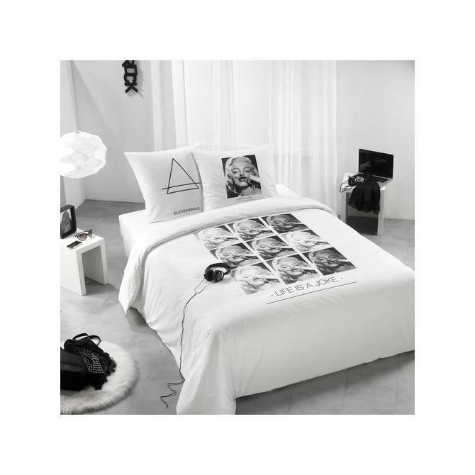 housse de couette 200x200 marilyn achat vente housse de couette cdiscount. Black Bedroom Furniture Sets. Home Design Ideas