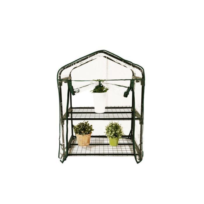 Mini Serre de jardin botanique 2 étagères 69x49x95cm + une ...
