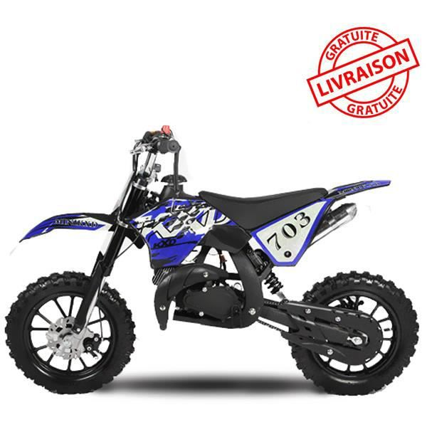 mini moto essence dirt bike midi 10 bleue 49cc achat. Black Bedroom Furniture Sets. Home Design Ideas