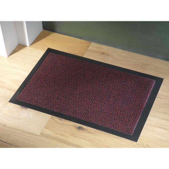 tapis faro rouge anti poussi re 90x150cm achat vente. Black Bedroom Furniture Sets. Home Design Ideas
