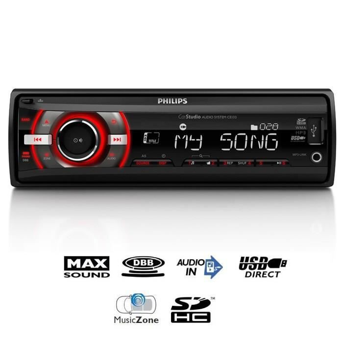 AUTORADIO PHILIPS CE132 Autoradio 200W USB SD HC