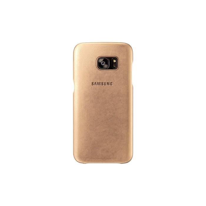 Samsung Coque en cuir S7 - Beige