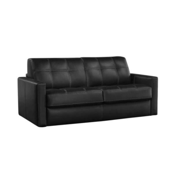 canap convertible tetris tissu noir lit 140x190 achat vente canap sofa divan tissu. Black Bedroom Furniture Sets. Home Design Ideas