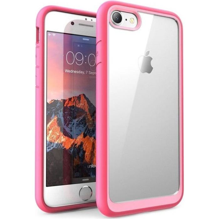 coque iphone 7 et 8 silicone protection bord renfo
