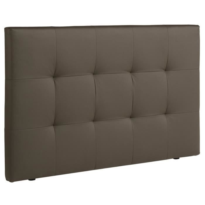 t te de lit mona taupe achat vente t te de lit. Black Bedroom Furniture Sets. Home Design Ideas