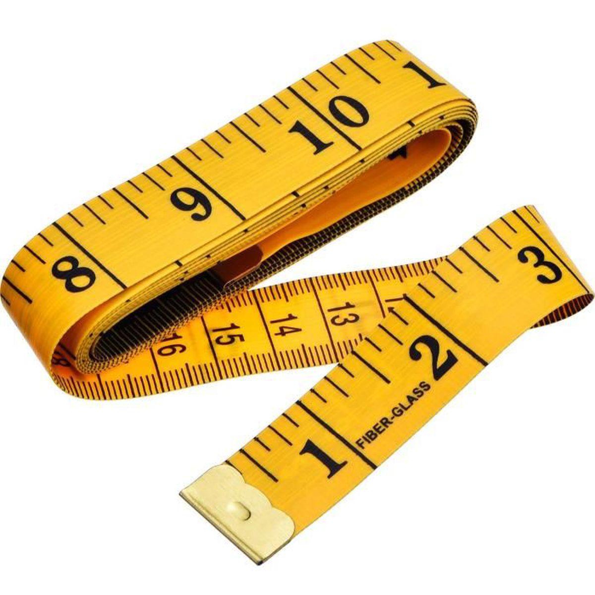 mesure du corps souple et r/étractable pour couture r/ègle en tissu 150 cm . 1 m/ètre ruban souple couleur al/éatoire