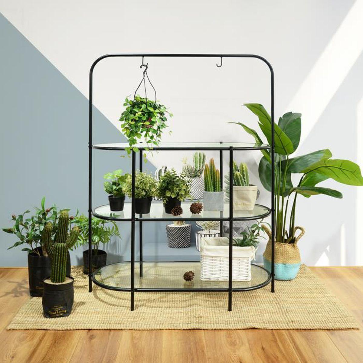 Etagere Pour Plantes Interieures homy casa Étagère à fleurs jardinière plante multicouche