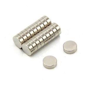 50 Pièces En Néodyme Disques Aimants Magnétiques Disques 10x5 mm n45 nickelés très fortement
