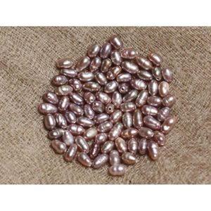 10pc Perles de Culture Riz 2-3mm Vieux Rose   4558550037220