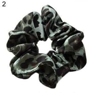 BARRETTE - CHOUCHOU Vintage léopard tissu femmes queue de cheval titul