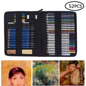 KIT DE DESSIN 52 Pcs Crayons De Couleurs Avec Un Paquet En Nylon