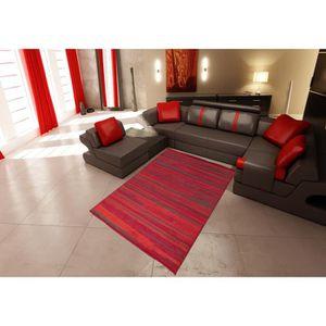 TAPIS Tapis salon GRAFIQUE ligne rouge DEBONSOL - 120x17