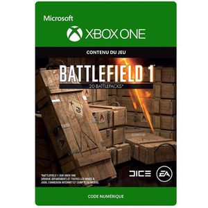 EXTENSION - CODE DLC Battlefield 1: 20 Battlepacks pour Xbox One