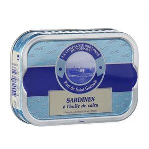 PRODUIT DE SARDINE Sardines entières à l'huile de colza bio , 115 gr