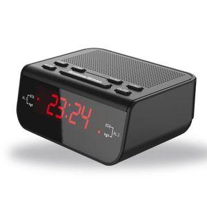 Radio réveil LED Réveil Réveil Numérique avec Radio FM Radio Ho