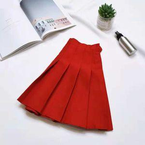 JUPE LadiesCasual sauvage solide Jupe plissée Mini jupe