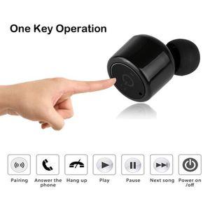 CASQUE - ÉCOUTEURS Bluetooth Mini vrai écouteur sans fil stéréo jumea